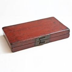 Antique Red Laquer Box: Antique Furniture - French Antiques - American Antiques - Asian Antiques - European Antiques - Bonnin Ashley Antiques