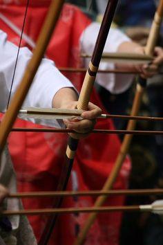 弓道/Japanese archery, Kyudo - Impressive Colour Red
