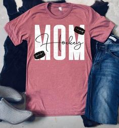 Hockey Mom Triblend T-Shirt / Hockey Shirt / School Sport Shirt / Hockey Mom Shirt Hockey Shirts, Hockey Mom, Hockey Stuff, Hockey Apparel, Ice Hockey, Hockey Hoodie, Kings Hockey, Vinyl Shirts, Baby Kicking