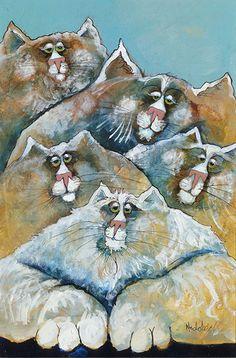 Whimsical Art, Cat Art, Family Portraits, 3 D, Kittens, Cat Paintings, Artists, Iphone Wallpapers, Art Journaling