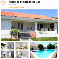 #curacao #villa #townhouse #houseforsale  Mahaai Tropical House  Visit http://orange-real.estate to see our other Villa's and Townhouses for Sale in Sunny Curacao.