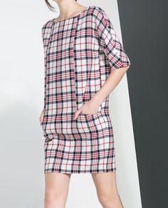 My Midlife Fashion: To Tartan Or Not To Tartan (Zara Tartan dress)