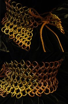 Chainmail neck corset