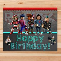 Printable Roblox Birthday Sign Red & Teal - 2 sizes - 8x10 & 16x20 inches  This adorable Roblox Birthday Sign is the perfect way to add that special touch to your little ones birthday party!  ============================== Whats Included In the Listing? ==============...