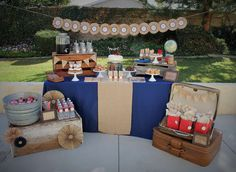 Vintage Airplane Birthday Party Ideas | Photo 1 of 31 | Catch My Party