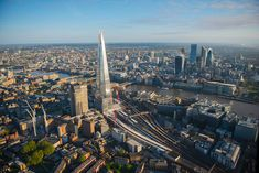 London Bridge Station and the Shard with the City in the background