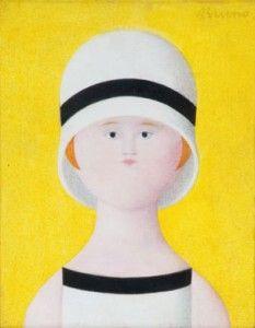 Antonio Bueno, La Lezione. Oil on wood.