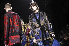 Watch the livestream of the Balmain show menswear collection Fall