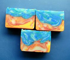 Two ITP swirls in one bar?  Insanity!  Check out our Elemental Swirl Tutorial!  #soap #tutorial #howto
