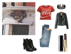 Going Hard Rock Cafe by rosaregaler on Polyvore featuring Citizens of Humanity, Vanessa Mooney and vintage