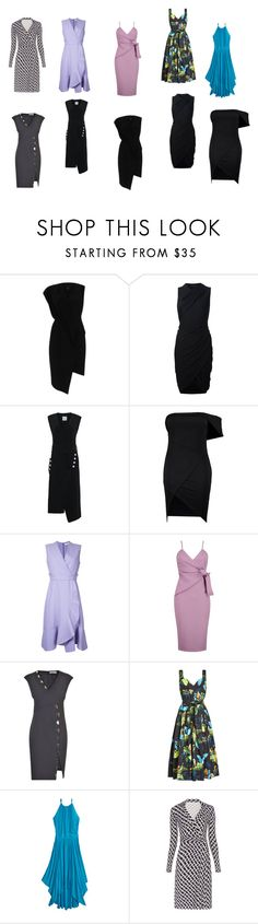 WRAP DRESS by fultonhoward on Polyvore featuring Carven, Alexander Wang, Versace, Marc Jacobs, Diane Von Furstenberg, Calypso St. Barth, River Island and Boohoo