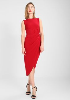 WAL G. SIDE KNOT DRESS - Sukienka etui - red - Zalando.pl Wal G, Shoulder Dress, One Shoulder, Knot Dress, Formal Dresses, Red, Fashion, Formal Gowns, Fashion Styles