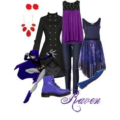 """Raven - Teen Titans"" by roishey on Polyvore"