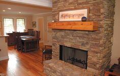 Great room fireplace  NDG 1110 - Brushy Creek   For more house plans visit www.nelsondesigngroup.com
