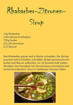 Gartenkraut: Sirup