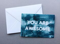 You Are Awesome - A6 Charity Greetings Card