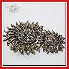 VINTAGE JUDITH JACK STERLING MARCASITE SUNFLOWERS PIN BROOCH - Brooch, Jack, Judith, Marcasite, Sterling, sunflowers, Vintage - http://designerjewelrygalleria.com/judith-jack/judith-jack-pins/vintage-judith-jack-sterling-marcasite-sunflowers-pin-brooch/