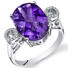 Peora.com - 14 Kt White Gold 4.7 cts Amethyst and Diamond Ring R61786, $479.99 (http://www.peora.com/14-kt-white-gold-4-7-cts-amethyst-and-diamond-ring-r61786/)