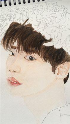 #watercolor #jongsuk #leejongsuk  watercolor painting lee jongsuk