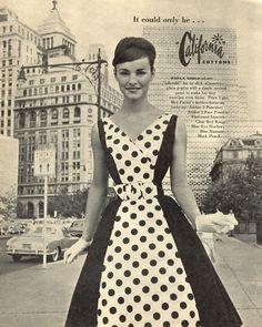 California Cottons, 1960...polka dots