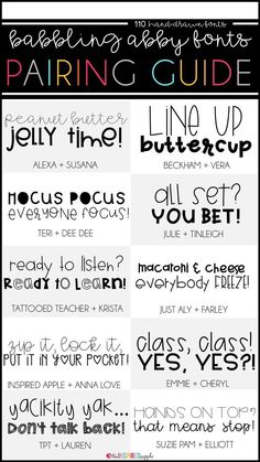 Do you love to create printable resources? Then, you MUST check out these fonts! There are over 100 to choose from, along with several FREE fonts, too! Babbling Abby fonts are a must for any teacher or teacher-author who creates to sell on Teachers Pay Te Fancy Fonts, Cool Fonts, Inspirational Artwork, Dafont, Travel Picture, Teacher Resources, Teacher Fonts Free, Fun Free Fonts, Font Free