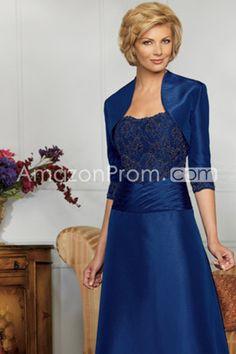 Blue Strapless Floor Length A Line Mother Of The Bride Dresses Under 200