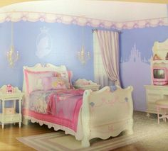 Sleeping beauty room. Behr paint discontinued princess paint colors; tjough i wish they would bring them back.