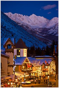 Vail, Colorado at dusk