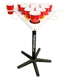 For Tailgating Fun: Point Pong - portable (and floatable) beer pong table