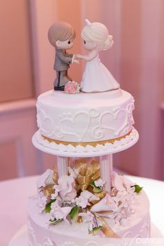 Wedding Cake by Publix with a Precious Moments cake topper