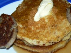 Cheap Bastid's ready to eat buttermilk pancakes--fast and cheap and absolutely delicious
