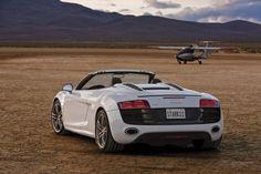 Beautiful White Audi R8 Spyder <3 Anastasia's :) #FiftyShades <3
