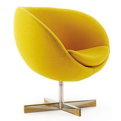 Planet chair, yellow. Designer: Sven Ivar Dysthe, 1965