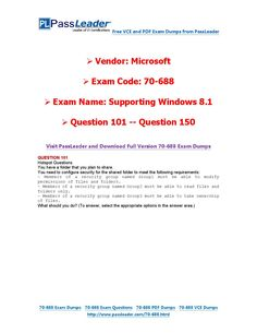 70-688 Exam Dumps with PDF and VCE Download (101-150) Shared Folder, Pdf, Coding, How To Plan, This Or That Questions, Education, Places, Onderwijs, Learning