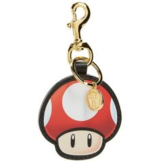 Moschino 'Super Moschino' Mushroom Bag Charm ($170) ❤ liked on Polyvore featuring jewelry, pendants, leather jewelry, charm pendant, anniversary jewelry, anniversary charms and leather charm