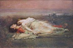 Rogelio de Egusquiza (Santander, Spain, 1845 - Madrid, 1915) - Tristan and Isolt (Death), 1910