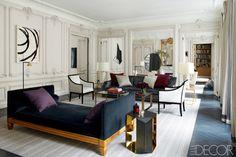 Apartment parisian. Home designed by Kelly Wilde and Laurent Champeau.  Photo: Simon Upton for ELLE Decor