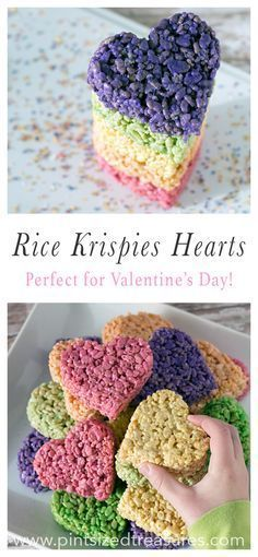 Make these heart-shaped rice krispie treat pops for Valentine's Day! You'll love how easy they are to make and kids will LOVE all the colors!