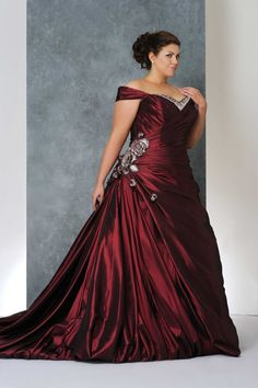 Plus size wedding gowns with color - plussize-outfits.com