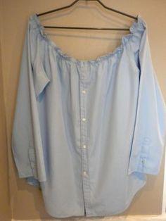 Transformer une chemise d'homme en blouse.