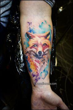 #tattoo #fox #selfie #tattooist #illustration #artwork #sketch #ink #artist #watercolor #trashpolka #tattooidea #drawing #inkmaster #tattooartist