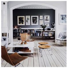 #currently obsessing over #homedecor loving the #vintage leather chairs & neutrals #homeinspo #pinterest #homesweethome #loft