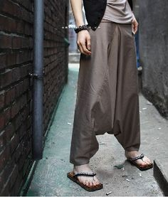 Can i pull of Harem Pants......... Not sure. | Japanese Samurai Style Mens Khaki Harem Pants |