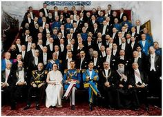 group photograph of the Romanian Government. In the middle of the front row are Queen Elisabeth, King Carol II, Prince Nicholas History Of Romania, Romanian Royal Family, Royal Family Portrait, Bucharest Romania, Imperial Russia, Kaiser, Ferdinand, King Charles, Cool Things To Buy