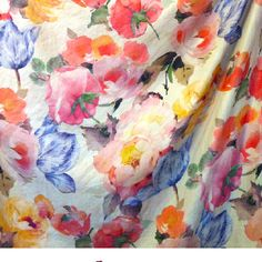 Rosetta looks like a watercolor for Lucy Rose Design Collection this is big scale flowers