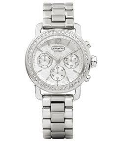 COACH WOMEN'S LEGACY SPORT MINI BRACELET WATCH 36MM 14501882 - Coach Watches - Handbags & Accessories - Macy's