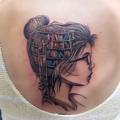 cool tattoo for a bookworm