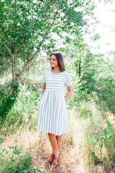 The Striped Bib Dress // Brick + Main Co.