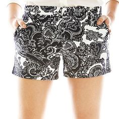 Joe Fresh™ Print Canvas Shorts - jcpenney