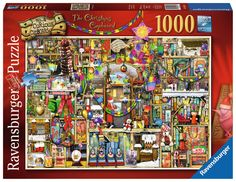 """""""The Christmas Cupboard"""" ~ a 1000 piece (No. 4 in Curious Cupboards) jigsaw puzzle by Ravensburger Puzzles. Artist: Colin Thompson"""